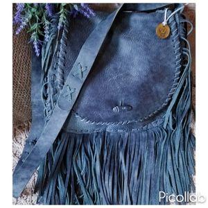 "Handbags - Genuine Cowhide ""Twilight Denim"" Bag"